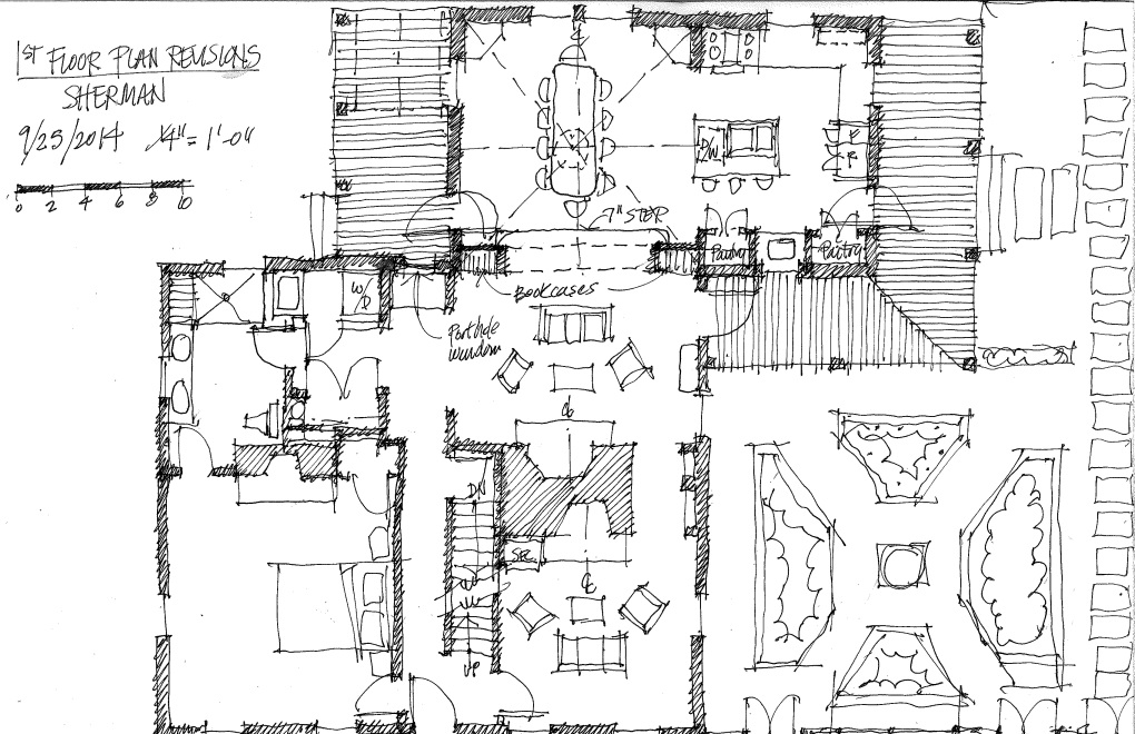 20 Sherman - Revised First Floor Plan Sketch