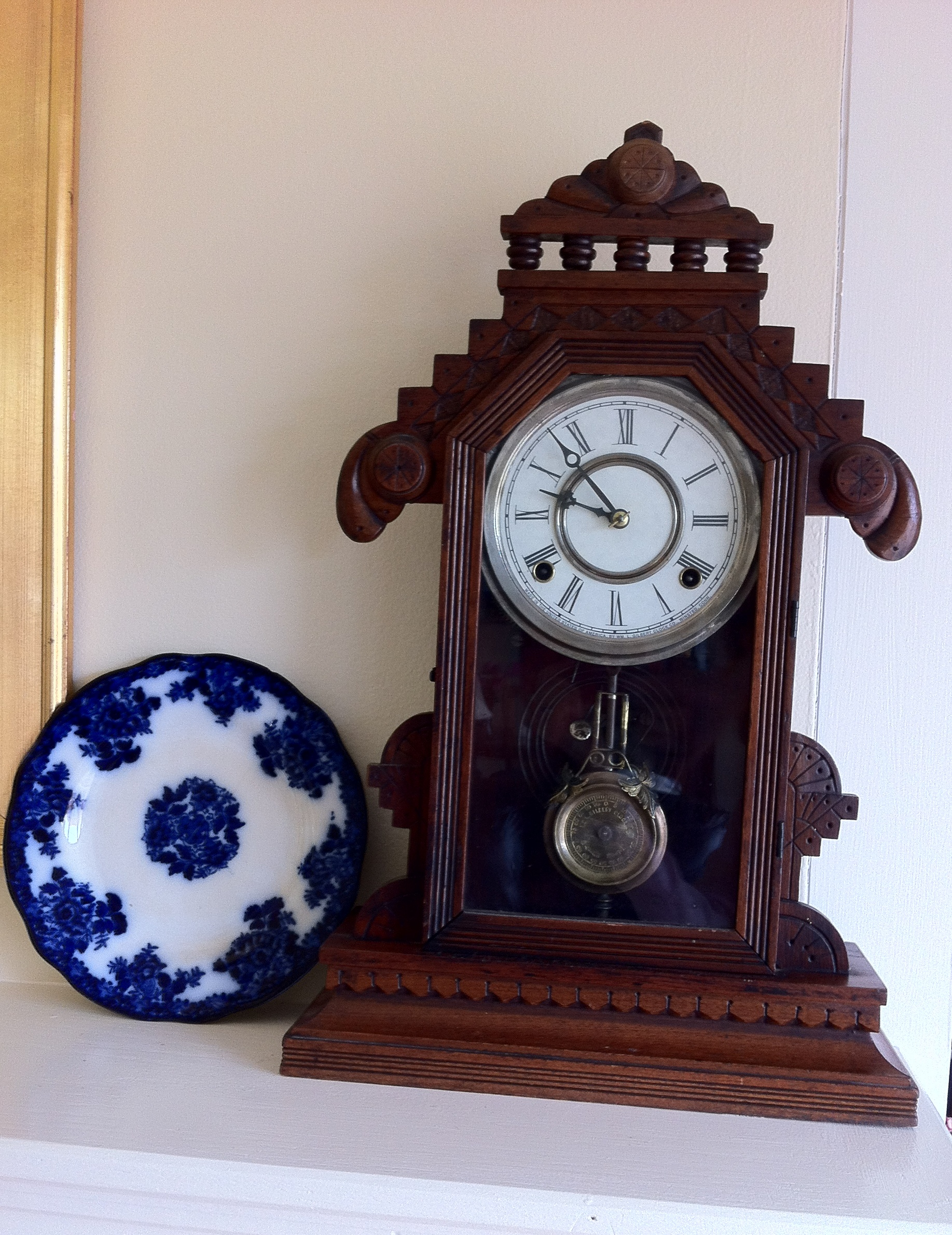 October 2014 homes of the brave 1880s gingerbread clock purchased from a collector in rhode island amipublicfo Gallery