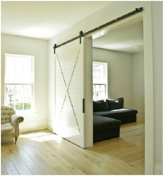 Interior sliding barn doors homes of the brave for Inside barn doors