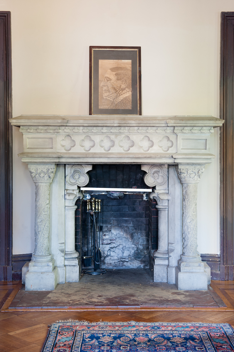 limestone mantel